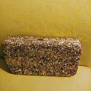 Target-Merona Gold Glitter Clutch